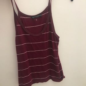 red brandy Melville striped tank top